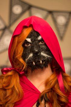 Ya podemos desvelar el secreto del disfraz de #halloween . Que os parece? Os gustaría que os expliquemos como hacer este maquillaje espeluznante? #halloween2014 #disfraz #costume #caperucita #lobo #littleredridfinghood #wolf #mycraftybirds Halloween, Brain, Wolf, Beauty, Ideas, Creepy Makeup, Wolf Makeup, Costume, How To Make