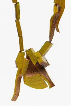 Sally Marsland, Untitled, 2011–12, necklace (detail), wood, 400 mm long, photo: Jeremy Dillon