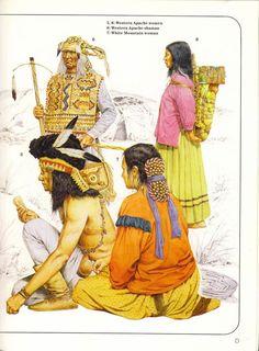 5,8:Western Apache women.6:Western Apache shaman.7:White Mountain woman. Native American Warrior, Native American Fashion, Native American History, Native American Indians, American Indian Wars, Plains Indians, Primitive Survival, Indian Tribes, Washington Dc