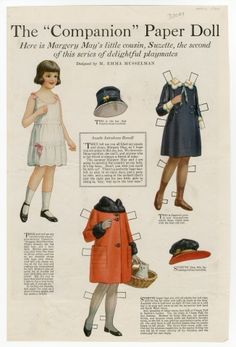 91.4410: Suzette, Margerys May's Little Cousin | paper doll | Paper Dolls | Dolls | National Museum of Play Online Collections | The Strong