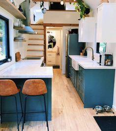 Tiny House Trailer, Tiny House Plans, Modern House Plans, Tiny House On Wheels, House Floor Plans, Modern Tiny House, Tiny House Design, Modern House Design, Best Tiny House