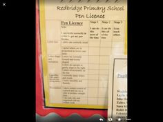 Pen licence - can you teach others? Teaching Resources, Teaching Ideas, School Pens, Classroom Displays, Primary School, Letters, Writing, Upper Elementary, Letter