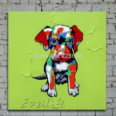 Aliexpress.com : Buy Pop art Sad Dog on canvas modern abstract oil painting handmade oil painting  Animal Pop Art Home Decor Living Room from Reliable decorative painting crafts suppliers on Eazilife Oil Painting    Alibaba Group