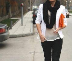 orange  purse..