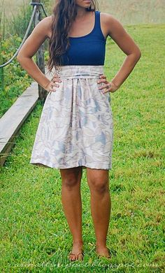 DIY dress - this is so fantastic, I will definitely be trying it w/ my stack of tank tops I don't wear anymore