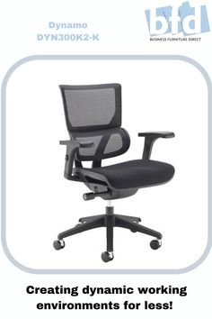 The visually stunning Dynamo chair provides new levels of comfort and support that suit the ergonomic needs of each individual user. Dynamo has been designed for the modern, hard working office environment where ergonomic, mesh back posture seating is combined with contemporary styling with a black or white frame for an exciting seating experience. Business Furniture, Home Office Furniture, Mesh Chair, Furniture Direct, Office Environment, Ergonomic Chair, Back Seat, Chair Fabric, Contemporary