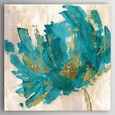 A bright addition to any room, the Contemporary Teal Flower Canvas Wall Art is a canvas print that makes every day feel like spring. Inviting, midcentury design with gorgeous colors make this piece dreamy and appealing. Teal Flowers, Abstract Flowers, Abstract Art, Abstract Portrait, Oil Painting Abstract, Canvas Art Prints, Canvas Wall Art, Canvas Walls, Art Walls