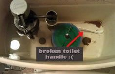 Fishing the broken handle arm and yanking on it to flush is not fun. How to fix a broken toilet handle