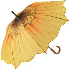 Galleria Art Print Walking Length Umbrella - Sunflower Bloom - Brolliesgalore