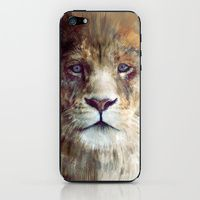 iPhone 5s & iPhone 5 Skins featuring Lion // Majesty by Amy Hamilton