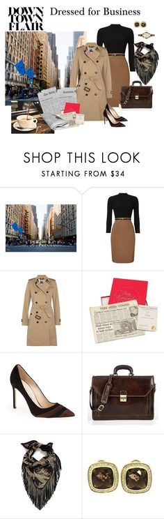 """""""Just Starting Out"""" by jjsunnygirl ❤ liked on Polyvore featuring Phase Eight, Burberry, Manolo Blahnik, Alberto Bellucci, Steve Madden, David Yurman and FOSSIL"""