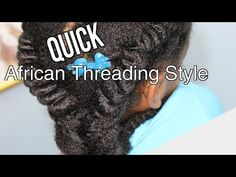 Quick African Threading Tutorial for Girls African Threading, Hair Threading, African Hairstyles, Locks, My Hair, To My Daughter, Natural Hair Styles, My Love, Girls