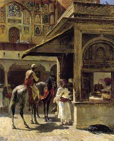 """Edwin Lord Weeks. """"Escena de calle en la India"""""""