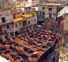 Curtidores de pieles Fez (Marruecos)