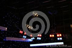 Photo about Lighting equipment of TV studio - grid lights inside the TV studio. Image of background, colorful, indoor - 78421742 Grid, Indoor, Colorful, Technology, Stock Photos, Lights, Studio, Tv, Photography