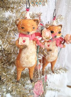 Spun Cotton Ornament Co. — Foxy Valentine D