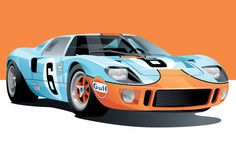 Ford GT 40 Poster