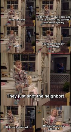 This is one of my all-time favorite Morgan moments. She needs to ask Mommy for their address to complete her 911 call. #boymeetsworld