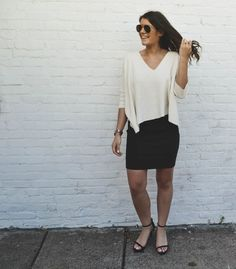 Affordable Style Blog // BitofBizdom  slouchy top // pencil skirt // click to shop