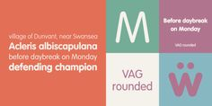 VAG Rounded - Anime Sub Font --- VAG Rundschrift or VAG Rounded is a geometric sans-serif typeface that was designed as a corporate typographic voice for the Volkswagen AG motor Slab Serif Fonts, Sans Serif Typeface, Cursive Fonts, Handwriting Fonts, Typography Fonts, Lettering, Round Font, Gothic Fonts, Stylish Fonts