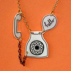 Vintage phone pendant ♥
