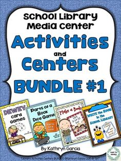 Activities & Centers BUNDLE #1 for the School Library Medi