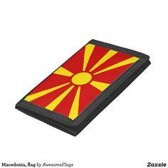 Macedonia, flag tri-fold wallets