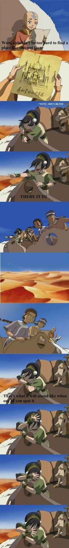 Avatar: The Last Airbender - Aang, Sokka Katara ,Toph , and Toph's blind but funny Korra Avatar, Team Avatar, Legend Of Aang, The Familiar Of Zero, Got Anime, Culture Art, Troll, Sneak Attack, Avatar Funny