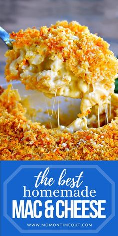 The BEST Homemade Mac and Cheese of your LIFE. Outrageously cheesy, ultra creamy, and topped with a crunchy Panko-Parmesan topping. Definitely a keeper! Best Mac And Cheese Recipe Easy, Mac And Cheese Homemade, Making Mac And Cheese, Macaroni Cheese Recipes, Cheesy Recipes, Beef Recipes, Cooking Recipes, Chicken Recipes, Recipies