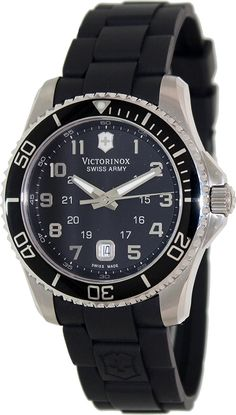 Victorinox Swiss Army Men's Maverick 241435 Black Rubber Swiss Quartz Watch with Black Dial ** Be sure to check out this awesome product.