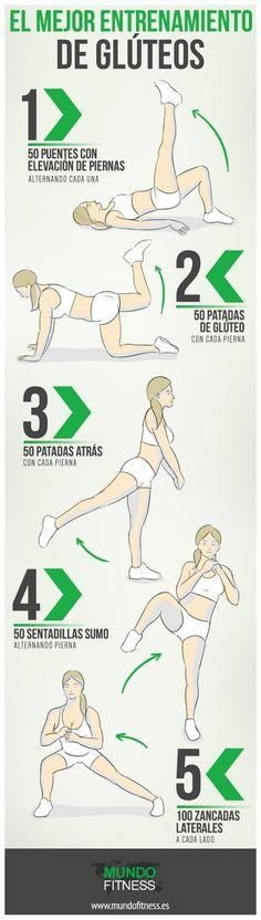 5 ejercicios que puedes hacer en casa para trabajar los glúteos.: