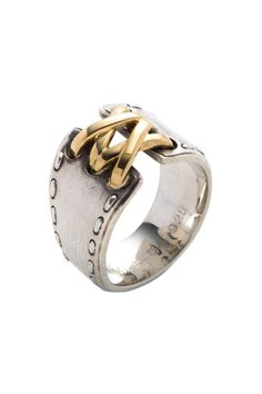 Vintage Hermes Two-Tone Ring (Size 6.5) $336 - $249 @HauteLook. Item is pre-owned. - Sterling silver stitched design ring with gold plated lace front - Hermes Size 54, US Size 6.5 - Approx. 1cm band width - Rating: AB: (8) Excellent condition. There might be some signs of wear (scratches, marks...). - 925 sterling silver and gold plated 925 sterling silver - Includes box - Made in France ***Orders cannot be shipped to Canada.***