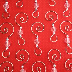 GET THEM WHILE THEY LAST! WHEN THEYRE GONE THEYRE GONE!    Display your Christmas ornaments on these beautiful swirled wire beaded ornament hangers!