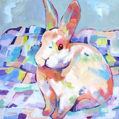 contemporary rabbit painting by Carolee Clark