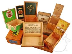 .have cigar boxes on table with paper/cards and pens it them to write well wishes OR as floral containers/displays