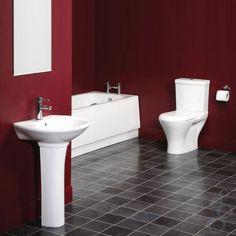 Red Bathroom | bathroom idea