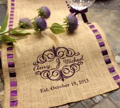 Burlap Monogram Burlap Personalized by CustomHollyDavidson on Etsy, $67.75