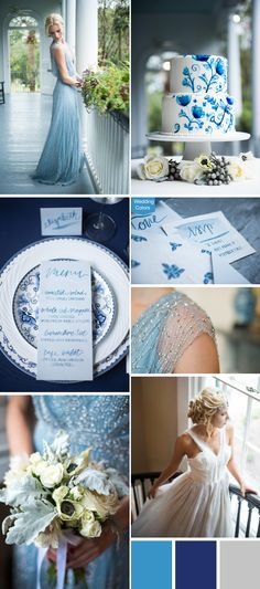 I'm simply head-over-heels for this delft blue wedding inspiration. All these tranquil blue and white details and delft inspired patterns has me swooning