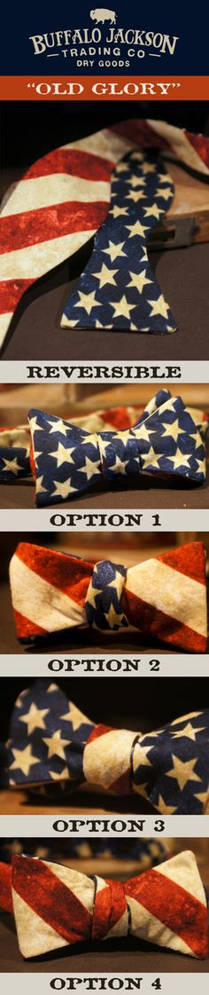 American Flag Bow Tie | Made in the USA by Buffalo Jackson Trading Co