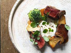 Galician steak, xo glazed ox cheek, chive & cep  #instagood #photooftheday…