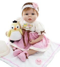 84.93$  Watch here - http://ali13w.worldwells.pw/go.php?t=32787511349 - 22 inch girl reborn babies dolls fashion silicone reborn dolls  best children birthday gift bebe real reborn menina bonecas  84.93$