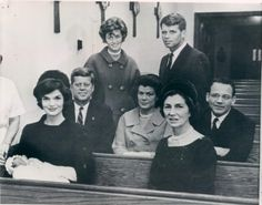 John Jr's Baptism. Love the photo of family in church pews for this special occasion.