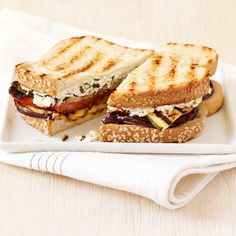 Grilled Veggie and Herbed-Goat Cheese Paninis Recipe   Weight Watchers