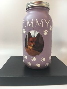 A personal favorite from my Etsy shop https://www.etsy.com/listing/500232811/your-pets-picture-here-paw-print-mason