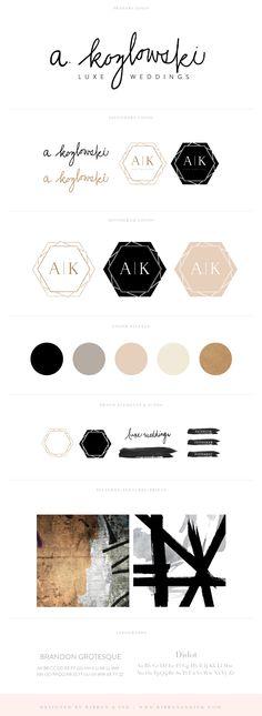 Branding and Web Design / brand design / wedding planner brand board / logo design / brand ideas / black and gold / color palette / branding for creatives / branding for photographers / brand design