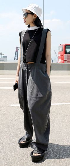Oversized cotton blend overall