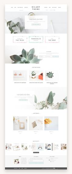 Hilary Portfolio And eCommerce Genesis Child Theme is a simple and minimalist feminine WordPress theme for creatives, designers, crafters and photographers. Website Design Inspiration, Design Blog, Page Design, Simple Website Design, Website Designs, Wordpress Theme, Site Wordpress, Wordpress Admin, Design Websites