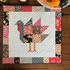 Tom Turkey Thanksgiving Quilted Table Topper Mini Quilt