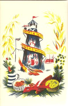"""""""English Fairs & Markets"""" by William Addison. Illustrated by Barbara Jones. Printed by Batsford in 1953."""