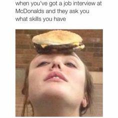 Inetview at McDonald's
